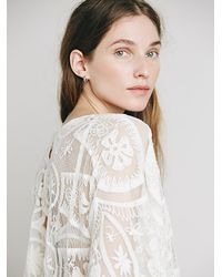 Free People - White Jen's Pirate Booty Womens Jen's Pirate Booty Lace Kaftan - Lyst