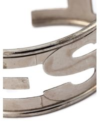 DIESEL - Metallic 'arter' Cuff for Men - Lyst