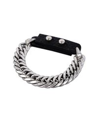 Jenny Bird - Metallic Brushed Chain And Leather Bracelet - Lyst