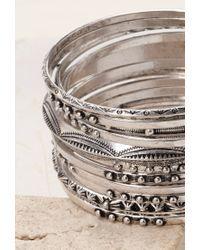 Forever 21 - Metallic Mixed Bangle Set - Lyst