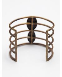 Free People - Green Womens Caged Stone Cuff - Lyst