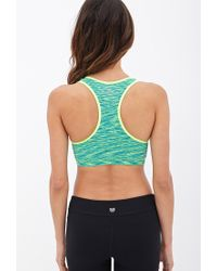 Forever 21 - Blue Low Impact - Space Dyed Racerback Sports Bra - Lyst