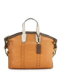 orYANY - Natural Cassie Color-Blocked Tote - Lyst