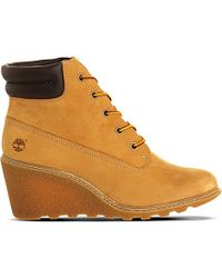 Timberland | Natural Amston Nubuck Wedge Boots | Lyst