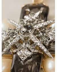 Marina Fossati | Metallic Embellished Cross Necklace | Lyst