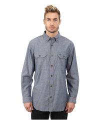 Carhartt | Blue Fort Solid L/s Shirt for Men | Lyst