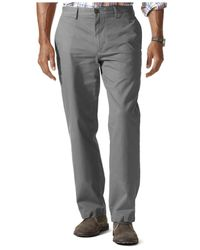 Dockers | Natural D2 Straight Fit Field Khaki Dobby Flat Front Pants for Men | Lyst