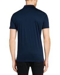 HUGO | Blue Regular-fit Polo Shirt In Mercerised Cotton: 'dyron' for Men | Lyst
