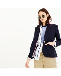 J.Crew | Blue Tall Campbell Blazer In Wool Flannel | Lyst