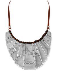 Robert Lee Morris | Metallic Silver-Tone Geometric Bib Frontal Necklace | Lyst