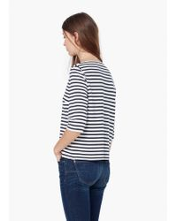 Mango | Blue Striped Top | Lyst