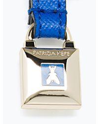 Patrizia Pepe | Blue Low Waist Belt In Leather | Lyst