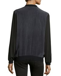 Nicole Miller - Black Yummy Colorblock Knit Top - Lyst