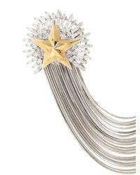 Iosselliani   Metallic Full Metal Jewels Pin   Lyst