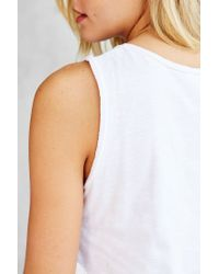Silence + Noise - White Double Me Up Tank Top - Lyst
