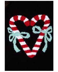 Missguided - Black Ubrita Candy Cane Christmas Jumper - Lyst