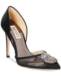 Badgley Mischka | Black Rylee Evening Pumps | Lyst