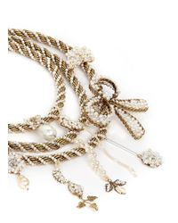 Erickson Beamon | Metallic Grapes Of Wrath' Twist Glass Pearl Chain Necklace | Lyst