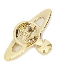 Vivienne Westwood | Metallic Gold Tone Orb Stud Earrings | Lyst