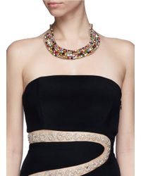 Valentino - Multicolor 'watercolour' Resin Jewel Collar Necklace - Lyst