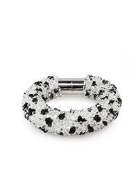 Balenciaga | Black And White Multi Coral Bracelet | Lyst