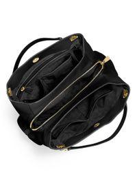 MICHAEL Michael Kors | Black Large Leather Shoulder Tote | Lyst