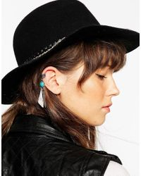 ASOS - Blue Single Festival Shard Ear Cuff - Lyst