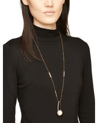 kate spade new york - Metallic Purely Pearly Pendant - Lyst