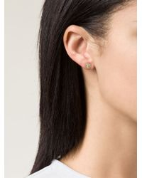 Ileana Makri | Metallic 'solitaire' Diamond Earrings | Lyst