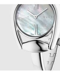 Gucci | Gray Diamond Horsebit Bracelet Stainless Steel Watch for Men | Lyst