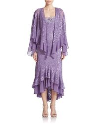 Alex Evenings | Purple Lace Dress And Jacket Set | Lyst
