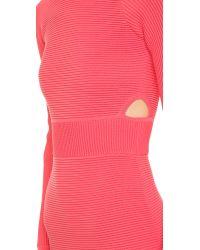 Jonathan Simkhai | Pink Cut-Out Cocktail Dress  | Lyst