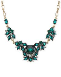 2028 | Gold-tone Green Crystal Ivy Collar Necklace | Lyst
