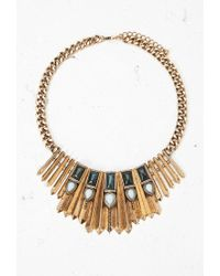Forever 21 | Metallic Faux Stone Bib Necklace | Lyst