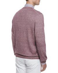 Ermenegildo Zegna - Purple Garment-dyed V-neck Sweater for Men - Lyst