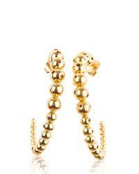 Paula Mendoza - Metallic Helius Hoop Earrings - Lyst
