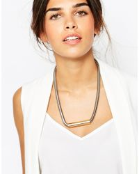ASOS - Metallic Bungee Chain Necklace - Lyst