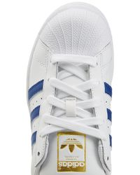 Adidas Originals - Leather Superstar Sneakers - White - Lyst