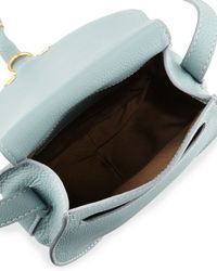Chloé - Blue Marcie Small Leather Saddle Bag - Lyst