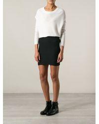 IRO - Black Megan Fitted Patterned Skirt - Lyst