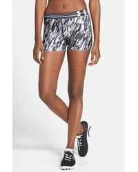 Under Armour - White 'alpha' Heatgear Print Shorts - Lyst