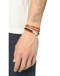 Miansai | Brown Modern Anchor Two Tone Leather Wrap Bracelet for Men | Lyst