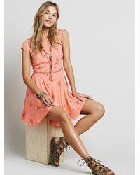 Free People - Pink Girl Code Printed Dress - Lyst