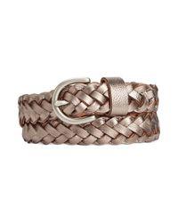 Fossil | Metallic Woven Jean Belt | Lyst