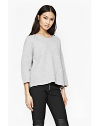 French Connection | Gray Frosted Sequin Jumper | Lyst