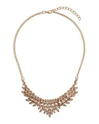 Mikey | Metallic Fillagary Crystal Pendant Necklace | Lyst