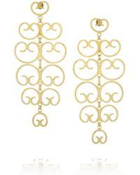 Mallarino | Metallic Mercedes Gold-plated Filigree Earrings | Lyst
