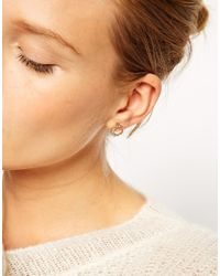 ASOS | Metallic Limited Edition Circle Stone Earrings | Lyst