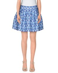 P.A.R.O.S.H. - Blue Mini Skirt - Lyst
