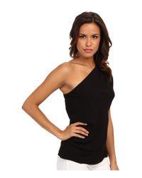 BCBGMAXAZRIA - Black Carli Sleeveless One Shoulder Top - Lyst
